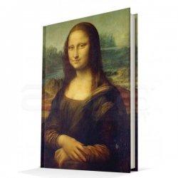 Deffter - Deffter Çizgili Sert Kapak Defter da Vinci - Mona Lisa A5 96 Yaprak