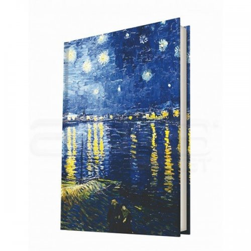 Deffter Çizgili Sert Kapak Defter Van Gogh-2 A5 96 Yaprak