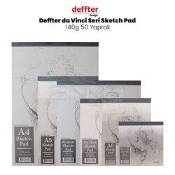 Deffter - Deffter da Vinci Seri Sketch Pad 140g 50 Yaprak
