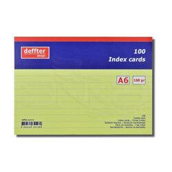 Deffter - Deffter Index Cards 100lü A6 Sarı 160g (1)