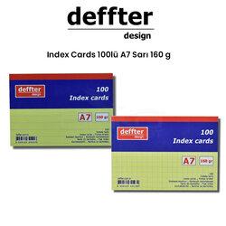 Deffter - Deffter Index Cards 100lü A7 Sarı 160g