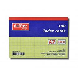 Deffter - Deffter Index Cards 100lü A7 Sarı 160g (1)