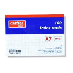 Deffter - Deffter Index Cards 100lü A7 Beyaz 160g (1)
