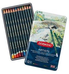 Derwent - Derwent Artists Pencils Artist Kuru Boya Kalemi 12li Set (1)