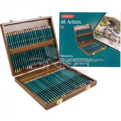 Derwent Artists Pencils Artist Kuru Boya Kalemi 48li Set Ahşap Kutu - Thumbnail