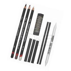 Derwent - Derwent Charcoal Pencils Füzen Seti (1)