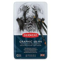 Derwent - Derwent Graphic Dereceli Kalem 12li Medium Set (1)