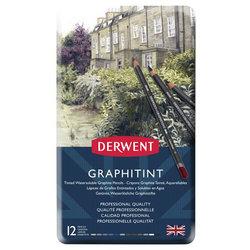Derwent - Derwent Graphitint Sulandırılabilen Renkli Grafit Kalem 12li Set (1)