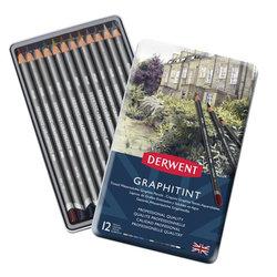 Derwent - Derwent Graphitint Sulandırılabilen Renkli Grafit Kalem 12li Set