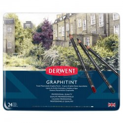 Derwent - Derwent Graphitint Sulandırılabilen Renkli Grafit Kalem 24lü Set (1)