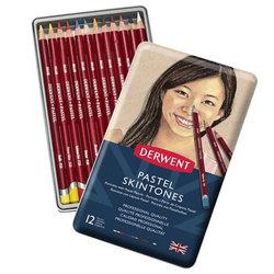 Derwent - Derwent Pastel Pencils Skintones 12li Teneke Kutu (Ten Renkleri) 2300563