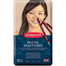 Derwent - Derwent Pastel Pencils Skintones 12li Teneke Kutu (Ten Renkleri) 2300563 (1)