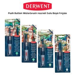 Derwent - Derwent Push Button Waterbrush Hazneli Sulu Boya Fırçası
