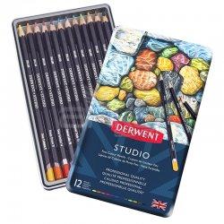 Derwent - Derwent Studio Colour Pencil Kuru Boya Kalemi 12li Set