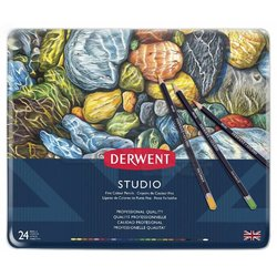 Derwent Studio Colour Pencil Kuru Boya Kalemi 24lü Set - Thumbnail