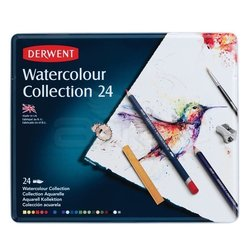 Derwent Watercolour Collection Sulu Boya Kalemi Koleksiyonu 24lü Teneke Kutu - Thumbnail