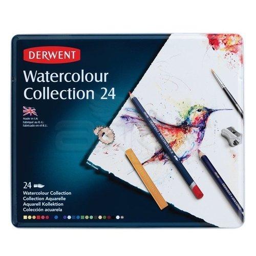 Derwent Watercolour Collection Sulu Boya Kalemi Koleksiyonu 24lü Teneke Kutu