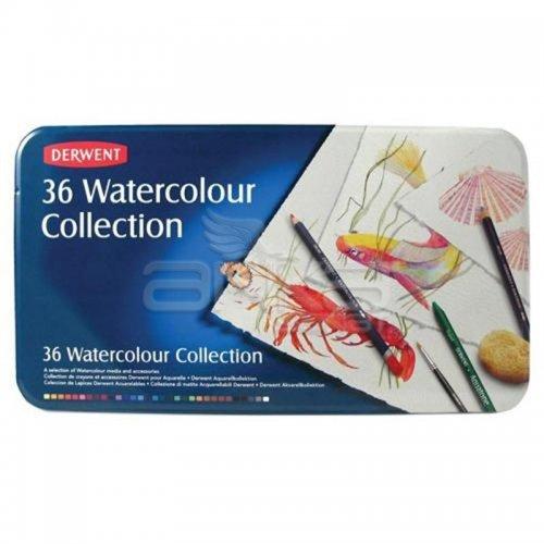Derwent Watercolour Collection Sulu Boya Kalemi Koleksiyonu 36lı Teneke Kutu