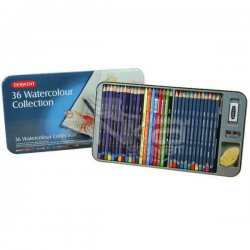 Derwent Watercolour Collection Sulu Boya Kalemi Koleksiyonu 36lı Teneke Kutu - Thumbnail