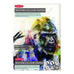 Derwent - Derwent Watercolour Paper Sulu Boya Blok 300g 12 Yaprak A4 21x29,7cm