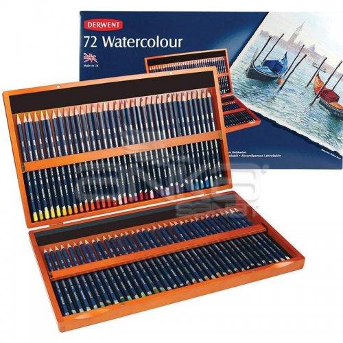 Derwent Watercolour Pencil Sulu Boya Kalemi 72li Set Ahşap Kutu