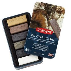 Derwent XL Charcoal 6lı Füzen Set - Thumbnail