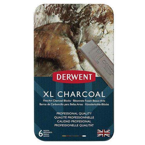 Derwent XL Charcoal 6lı Füzen Set