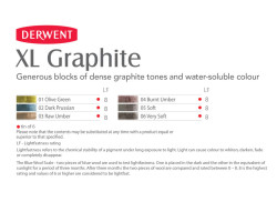 Derwent XL Graphite Block Sulandırılabilen Grafit Füzen - Thumbnail