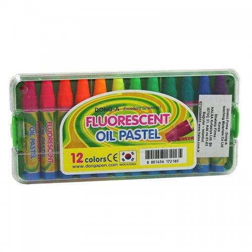 Dong-A 12 Renk Fosforlu Yağlı Pastel Boya 261312