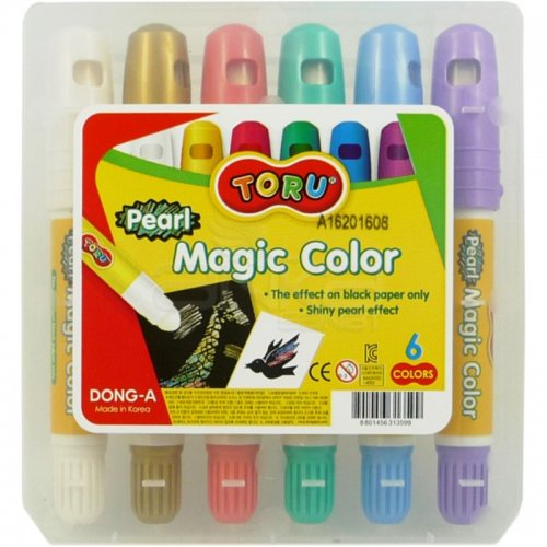 Dong-A Toru Pearl Magic Color Sihirli Jel Mum Boya 6 Renk