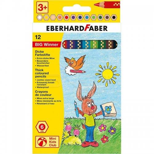 Eberhard Faber Big Winner Jumbo Kuru Boya Kalemi 12li 518712