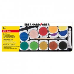 Eberhard Faber - Eberhard Faber Opak Sulu Boya Plastik Kutu 24lü 578124
