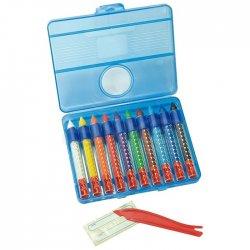 Eberhard Faber - Eberhard Faber Wax Crayons Sulandırılabilir Mumlu Pastel 10lu 521110 (1)