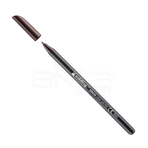 Edding 1200 İnce Uçlu Keçeli Kalem 1mm 018 Koyu Kahverengi