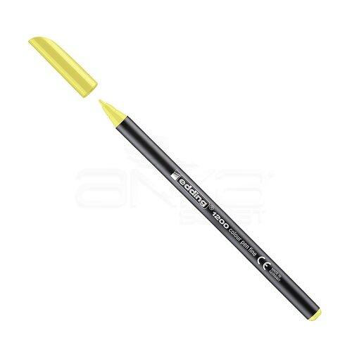 Edding 1200 İnce Uçlu Keçeli Kalem 1mm 065 Fosforlu Sarı