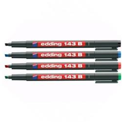 Edding - Edding 143B Kesik Uçlu Permanent Markör Kalemi (1)