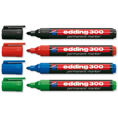 Edding 300 Permanent Markör Kalem Yuvarlak Uç 1,5-3mm