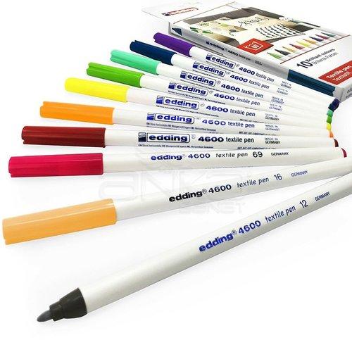 Edding 4600 Tekstil Kalemi 1mm 10lu Set Fun Colors