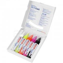 Edding - Edding 5000 Akrilik Marker Kalem 5-10mm Kesik Uç 5li Fosforlu Renkler (1)
