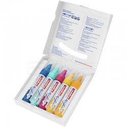 Edding - Edding 5000 Akrilik Marker Kalem 5-10mm Kesik Uç 5li Soyut Renkler (1)