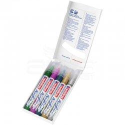 Edding - Edding 5100 Akrilik Marker Kalem 2-3mm Yuvarlak Uç 5li Metalik Renkler (1)
