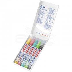 Edding - Edding 5100 Akrilik Marker Kalem 2-3mm Yuvarlak Uç 5li Pastel Renkler (1)