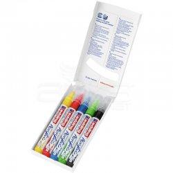 Edding - Edding 5100 Akrilik Marker Kalem 2-3mm Yuvarlak Uç 5li Temel Renkler (1)