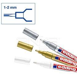 Edding - Edding 751 Gloss Paint Marker Metalik Renkler 1-2mm 3lü Set (1)