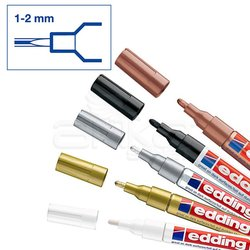 Edding 751 Gloss Paint Marker Metalik Renkler 1-2mm 5li Set - Thumbnail