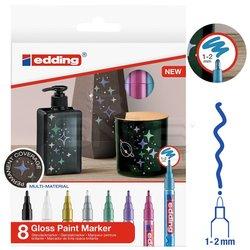 Edding - Edding 751 Gloss Paint Marker Metalik Renkler 1-2mm 8li Set