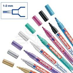 Edding - Edding 751 Gloss Paint Marker Metalik Renkler 1-2mm 8li Set (1)