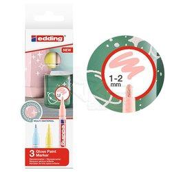 Edding 751 Gloss Paint Marker Pastel Renkler 1-2mm 3lü Set - Thumbnail