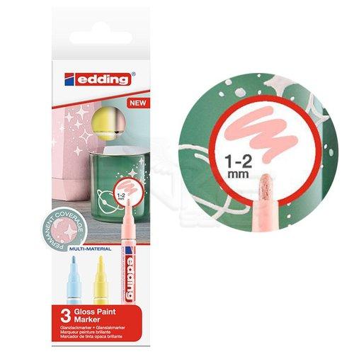 Edding 751 Gloss Paint Marker Pastel Renkler 1-2mm 3lü Set