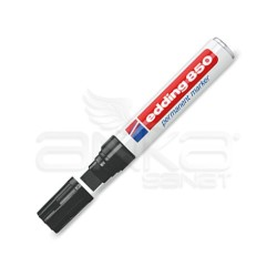 Edding - Edding 850 Kesik Uçlu Permanent Markör Kalem 5-15mm-Siyah (1)